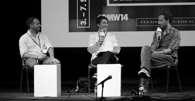Wyatt Jenkins von Shutterstock und Thom Cummings von SoundCloud auf der Berlin Music Week 2014