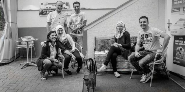 Familie Fallaha in Frankfurt / Foto: Bernd Hartung